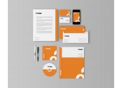 橙色时尚VIS视觉设计