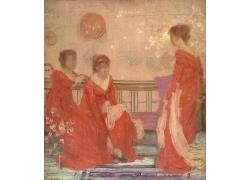 长椅上的女人和花朵