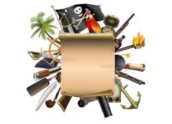 复古纸张和海盗元素