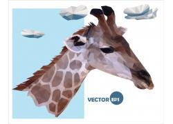 折纸长颈鹿的头部图片