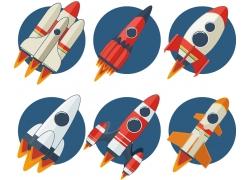 卡通火箭飞船漫画图片
