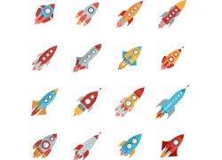 卡通火箭背景图片