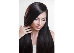 美丽的黑发模特