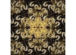 金色植物花纹