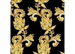 华丽金色植物花纹