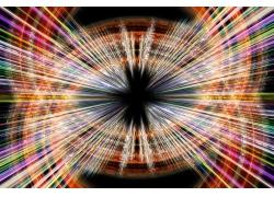 彩色放射状科技线条