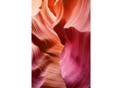 彩色的峡谷岩石纹理