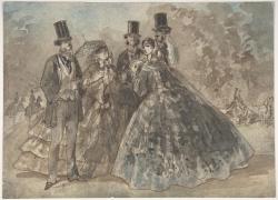 贵族男女绘画