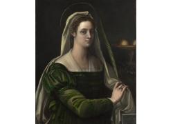 绿色裙子的美女图片