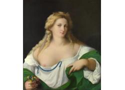 半裸的女人油画