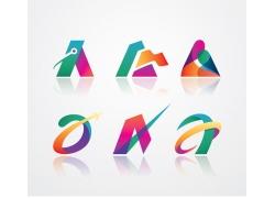 彩色创意字母A标志