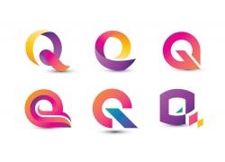 彩色创意字母Q标志