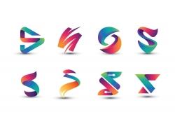 彩色创意字母S标志