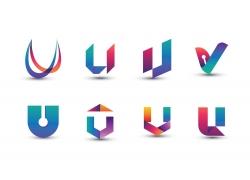 彩色创意字母U标志