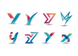 彩色创意字母Y标志