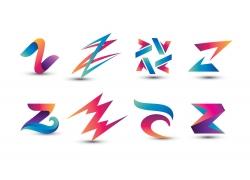彩色创意字母Z标志