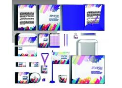 彩色时尚企业VI模板