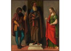 宗教人物男女油画