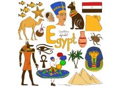 埃及主题元素