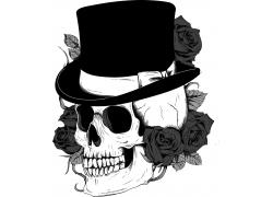 带帽子的骷髅