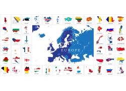欧洲各国地图图片