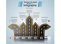 铅笔高速路信息图表