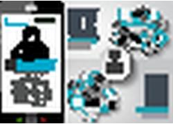 智能手机商务信息图表