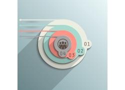 彩色立体圆环信息图表