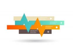 彩色曲线条纹信息图表