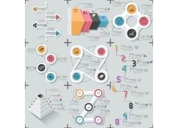 彩色圆环数字信息图表