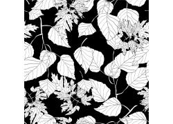 树叶无缝图案背景素材