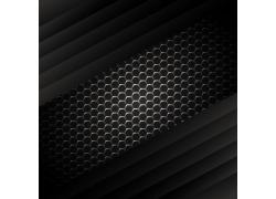 黑色金属蜂窝花纹背景