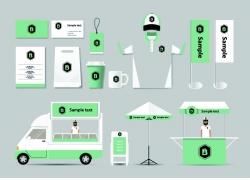 绿色企业识别标志设计素材