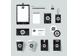 黑白叶纹咖啡企业VI设计