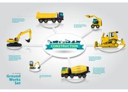 黄色的车辆信息图表