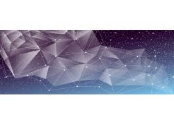 梦幻几何图案横幅设计