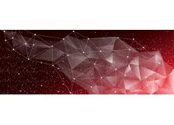 红色梦幻三角形横幅设计