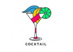 彩色鸡尾酒logo