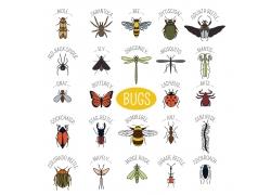 卡通昆虫动物漫画图片