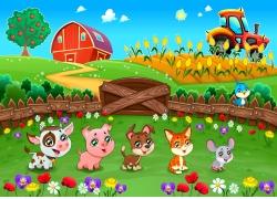 卡通农夫与动物漫画图片