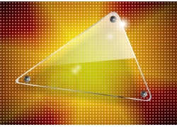 三角圆边透明玻璃设计素材