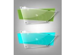 四边形尖角透明玻璃设计素材