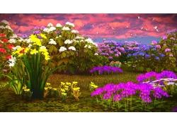 盛开的水仙花