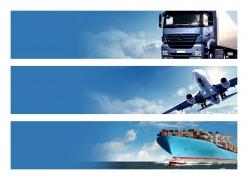 蓝天白云和交通工具