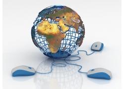 连接鼠标的地球