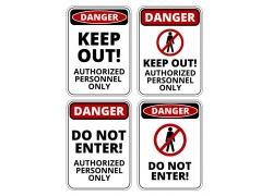 不要进入警告牌设计