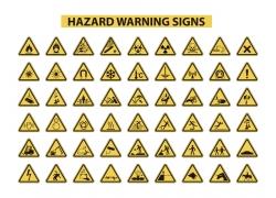 黑色边框警告牌设计