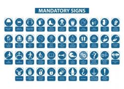 蓝色圆形标示牌设计