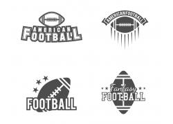 黑白橄榄球标志