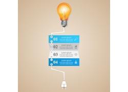 插电灯炮标签信息图表